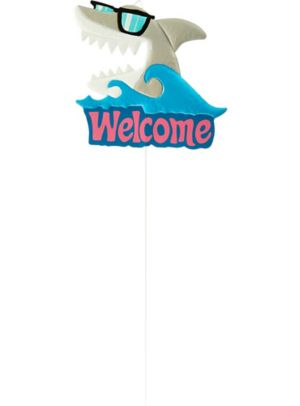 Shark Welcome Yard Stake