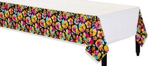 Neon Hibiscus Table Cover
