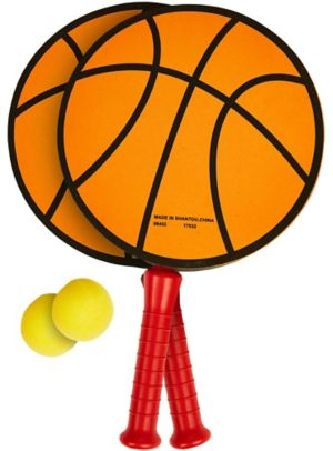 Basketball Paddle Ball Game Set 3pc