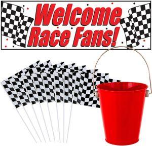 Car Racing Checkered Flag CP Kit