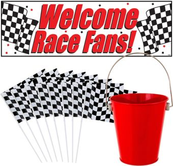 Car Racing Checkered Flag CP Kit