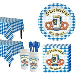 Oktoberfest Tableware Kit for 16 Guests