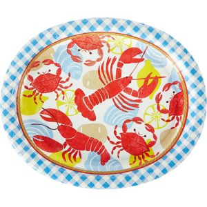 Seafood Fest Oval Plates 18ct