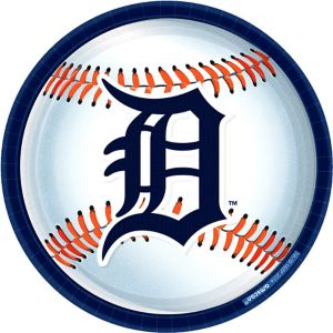 Detroit Tigers Lunch Plates 8ct