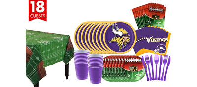 Minnesota Vikings Super Party Kit for 18 Guests