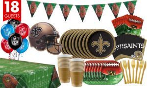 New Orleans Saints Deluxe Party Kit for 18 Guests