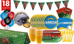 San Diego Chargers Deluxe Party Kit for 18 Guests