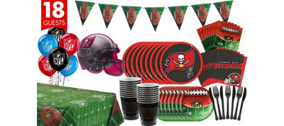 Tampa Bay Buccaneers Deluxe Party Kit for 18 Guests