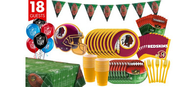 Washington Redskins Deluxe Party Kit for 18 Guests