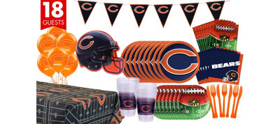 Chicago Bears Deluxe Party Kit for 18 Guests