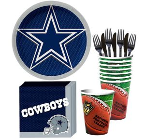 Dallas Cowboys Basic Party Kit for 18 Guests