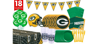 Green Bay Packers Deluxe Party Kit for 18 Guests