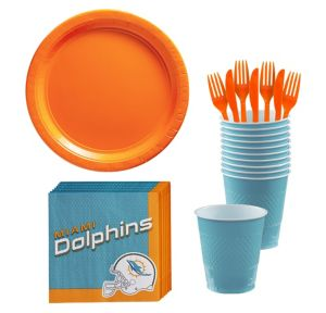 Miami Dolphins Basic Party Kit for 18 Guests