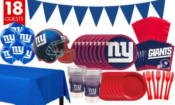 New York Giants Deluxe Party Kit for 18 Guests