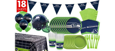 Seattle Seahawks Deluxe Party Kit for 18 Guests