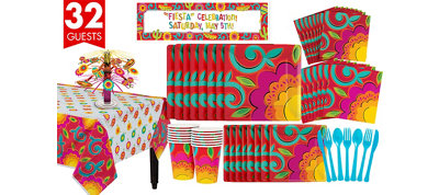 Caliente Fiesta Tableware Kit for 32 Guests