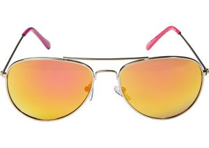 Pink Mirrored Aviator Sunglasses