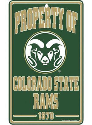 Property of Colorado State Rams Sign
