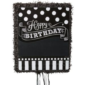 Pull String Personalized Chalkboard Birthday Pinata
