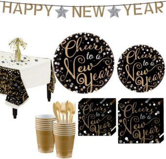 Bubbly Celebration Deluxe Tableware Kit for 36 guests