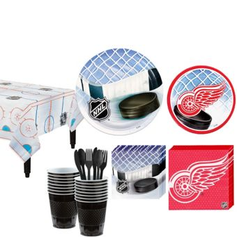 Detroit Red Wings Basic Party Kit for 16 Guests