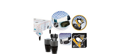 Pittsburgh Penguins Basic Party Kit for 16 Guests