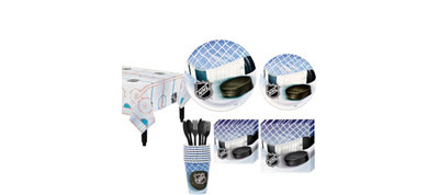 NHL Hockey Basic Party Kit for 8 Guests