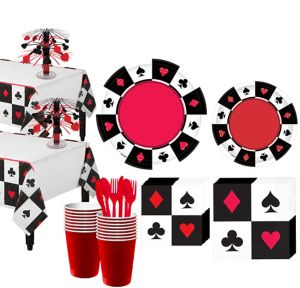 Place Your Bets Casino Tableware Kit for 32 Guests