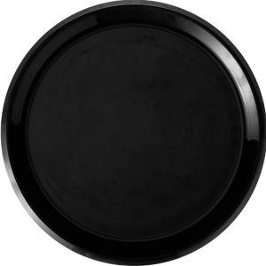 Black Plastic Swirl Platter