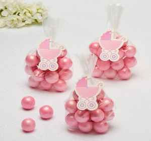 Pink Stroller Baby Shower Favor Tags 25ct
