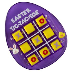 Purple Easter Egg Tic-Tac-Toe Game