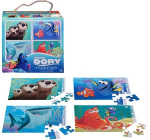 Finding Dory Puzzles 4ct
