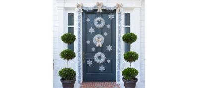 Silver Christmas Door Decorating Kit