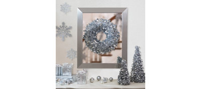 Silver Christmas Table & Mirror Decorating Kit