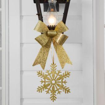 Gold Christmas Porch Light Decorating Kit