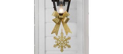 Gold Christmas Porch Light Decorating Kit