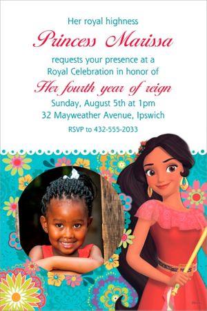 Custom Elena of Avalor Photo Invitation