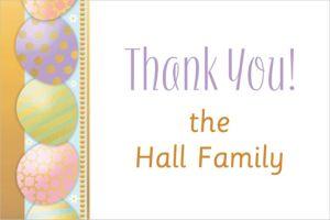 Custom Golden Easter Egg Thank You Note