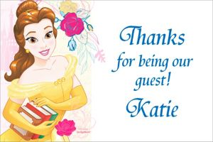 Custom Beauty and the Beast Thank You Note