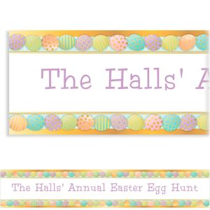 Custom Golden Easter Egg Banner