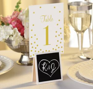 Chalkboard Easel Table Number Holders 6ct