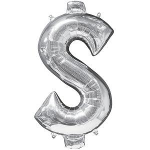 Giant Silver Money Symbol Balloon