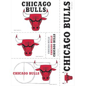 Chicago Bulls Decals 5ct