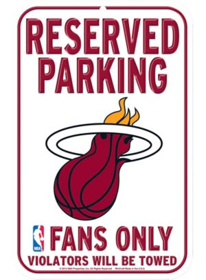 Reserved Parking Miami Heat Sign
