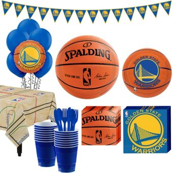 Golden State Warriors Super Party Kit 16 Guests