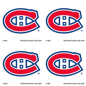 Montreal Canadiens Face Tattoos 4ct