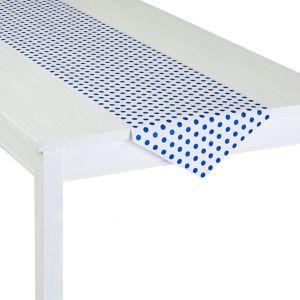 Bright Royal Blue Polka Dot Table Runner Roll
