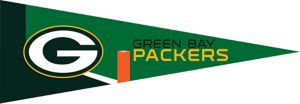 Small Green Bay Packers Pennant Flag
