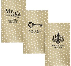 Personalized Wedding Small Dots Guest Towels