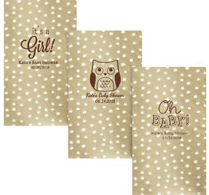 Personalized Baby Shower Small Dots Guest Towels